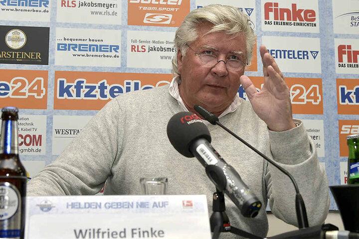 SCP-Präsident Wilfried Finke will keine Kohle mehr in den Verein stecken. Er habe schon genügend investiert.