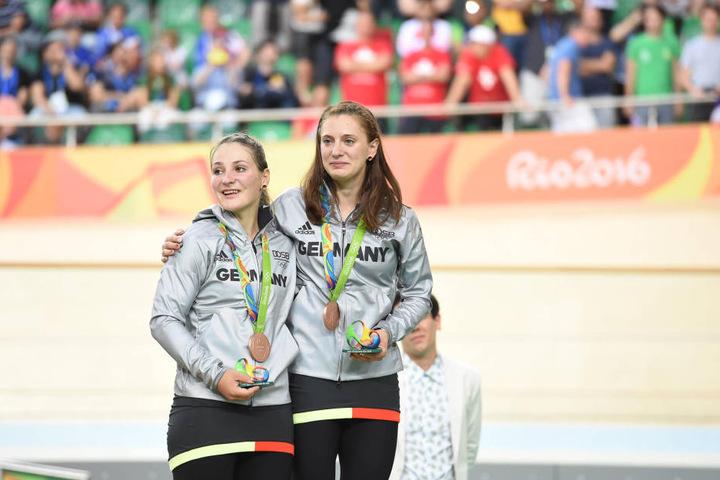Einer ihren letzten großen Erfolge: Kristina Vogel und Mariam Welte holten 2016 bei Olympia zusammen im Team-Sprint Bronze.