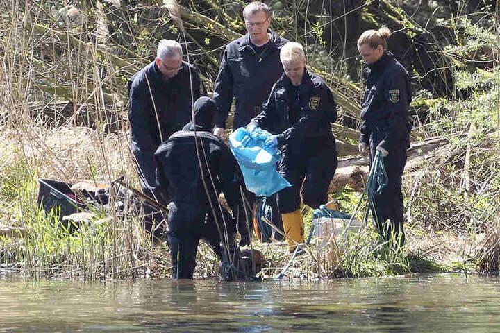 Im April 2016 entdeckten Spaziergänger am Ufer des Elsterbeckens einen Frauen-Torso, den von Maria D.