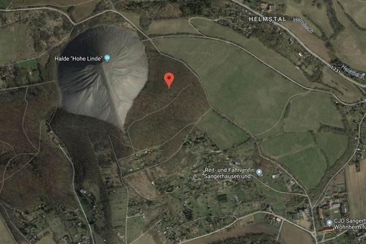 """Die Leiche des 33-Jährigen wurde an der Spitzkegelhalde """"Hohe Linde"""" nördlich der A38 bei Sangerhausen gefunden."""