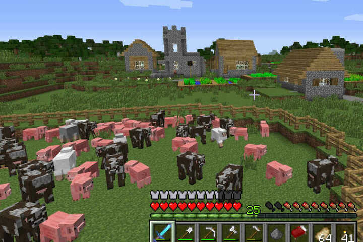 Stadtplanung mal anders: mit dem Computerspiel Minecraft.