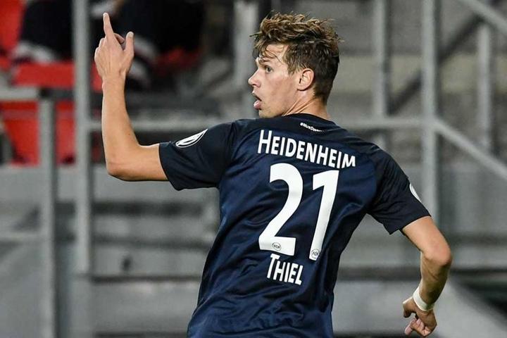 Maximilian Thiel will am Samstag auch gegen seine alten Kollegen jubeln. Bisher traf er ein Mal in der Liga und zwei Mal im Pokal.