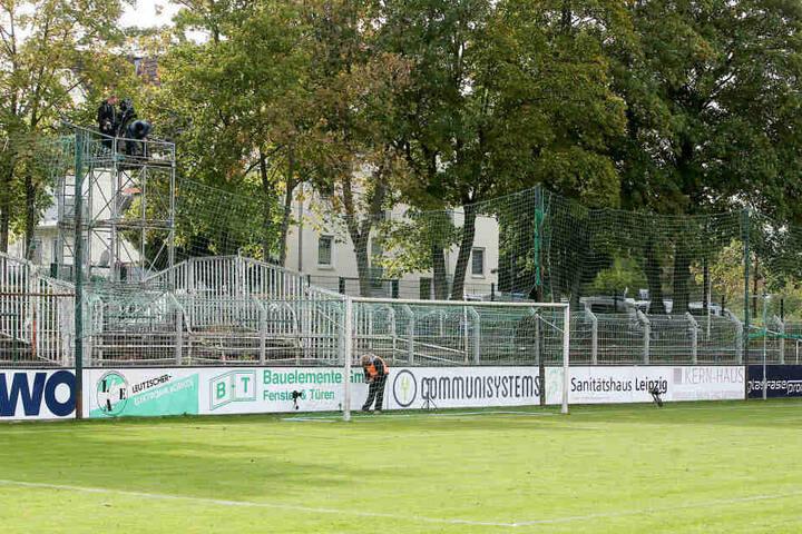 Der Gästeblock blieb im Alfred-Kunze-Sportpark leer. Das war im Sachsenpokal-Viertelfinale im Dezember auch schon der Fall.