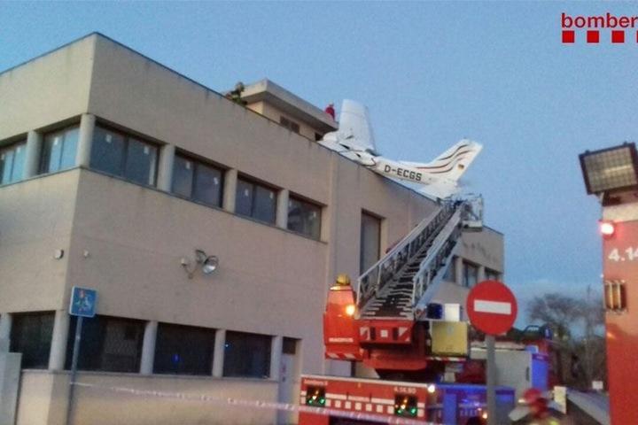 Das Unglück ereignete sich in der Nähe des Flughafens von Sabadell in Katalonien.