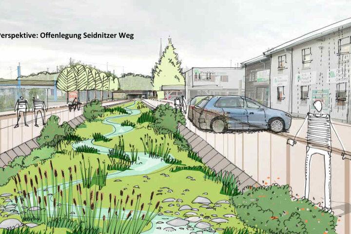 Zukünftig soll das Flussbett freigelegt werden.