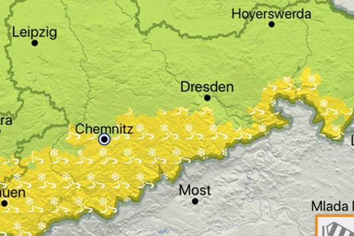 Der Deutsche Wetterdienst warnt vor Glätte im Erzgebirge und dem Vogtland.
