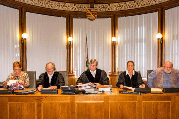 Wollen bis zum Monatsende Zeugen hören und sich dann ein Urteil bilden – die Richter der Schwurgerichtskammer im Leipziger Landgericht.