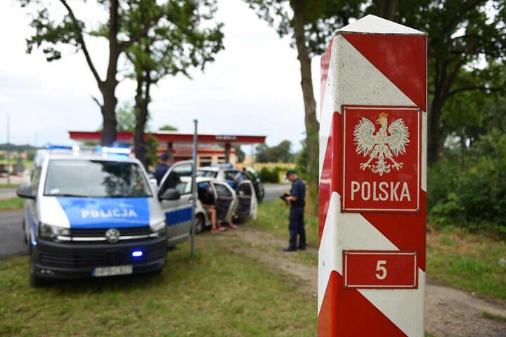 Auch die polnischen Kollegen der Polizei Zgorzelec wurden zum Einsatz gerufen.