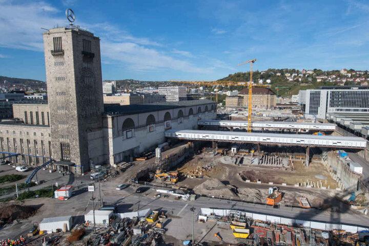 Gehört seit Jahren zum Stadtbild: die Großbaustelle am Hauptbahnhof.