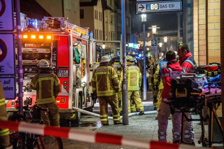 Während des Feuerwehreinsatzes musste der Verkehr umgeleitet werden.