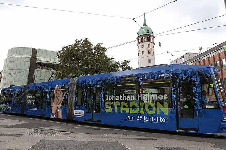 Diese Straßenbahn wird in der kommenden Saison durch Darmstadt fahren.