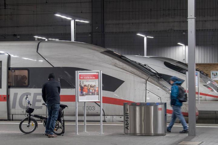 Am Montag kommt es bundesweit zu Warnstreiks der Deutschen Bahn.