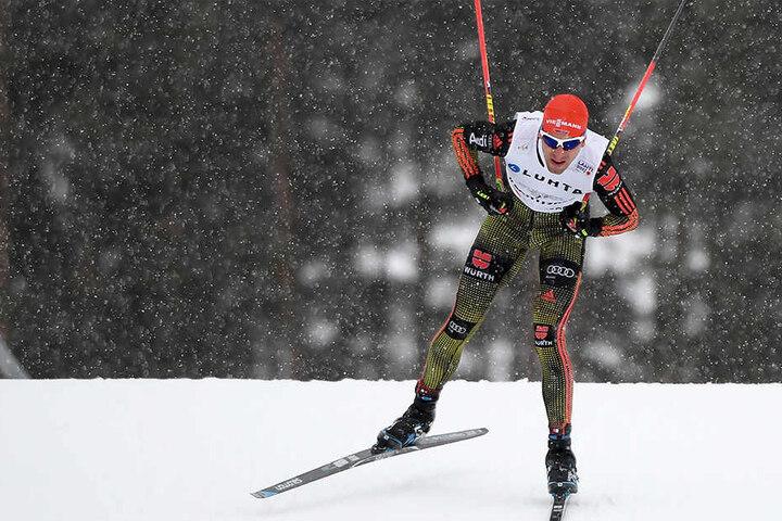 Björn Kircheisen bei der Nordischen Ski-WM in Lahti im Februar 2017.