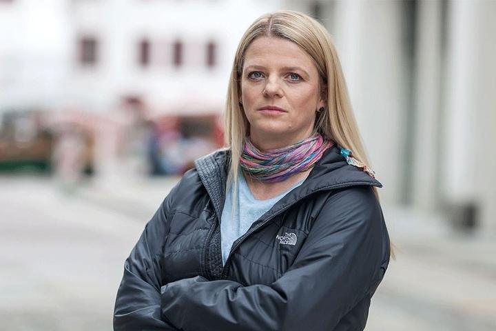 "Stadträtin Susanne Schaper (39, Linke) hält es für ""Quatsch"", dass die ERZ-Bahn Hilbersdorf links liegen lässt."