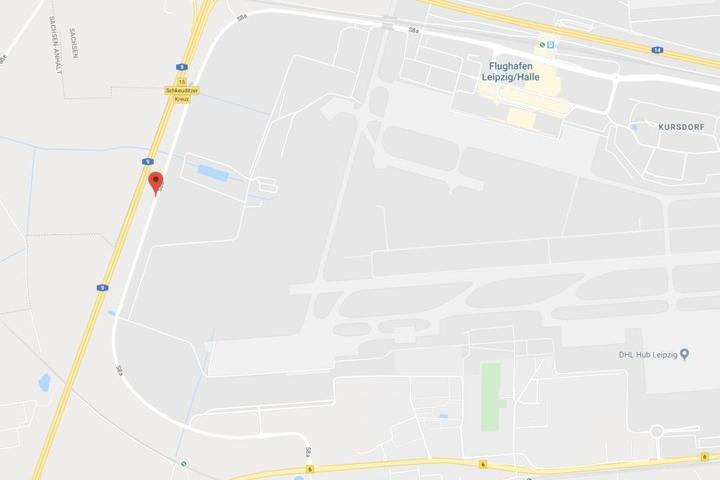 Das Unglück ereignete sich auf der S8a am Flughafen Leipzig/Halle.