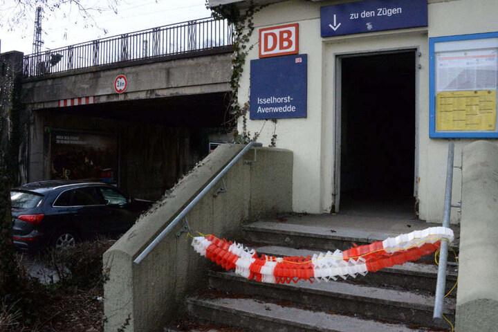 Der Bahnhof in Isselhorst-Avenwedde wurde zunächst gesperrt.