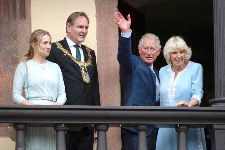 Jung, hier zusammen mit seiner Frau Ayleena sowie dem britischen Thronfolger Prinz Charles und seiner Ehefrau Camilla, soll zudem die Präsidentschaft des deutschen Städterats übernehmen.