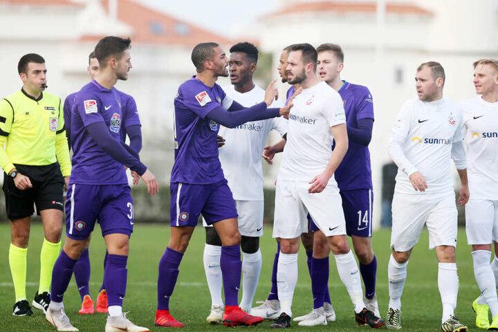 Den Test gegen Rostock gewannen die Auer mit 1:0.
