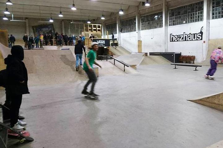 Das Heizhaus in Grünau ist immer gut besucht, hier finden auch mehrmals im Jahr Skate-Wettbewerbe statt.