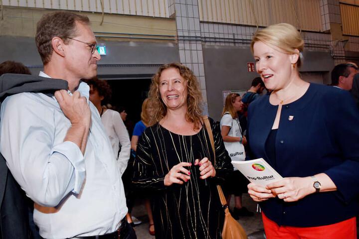 Nachfolgerin im Visier? Michael Müller (l.) und Franziska Giffey (r.) bei einem Pop-Kultur-Festival im Jahr 2016.