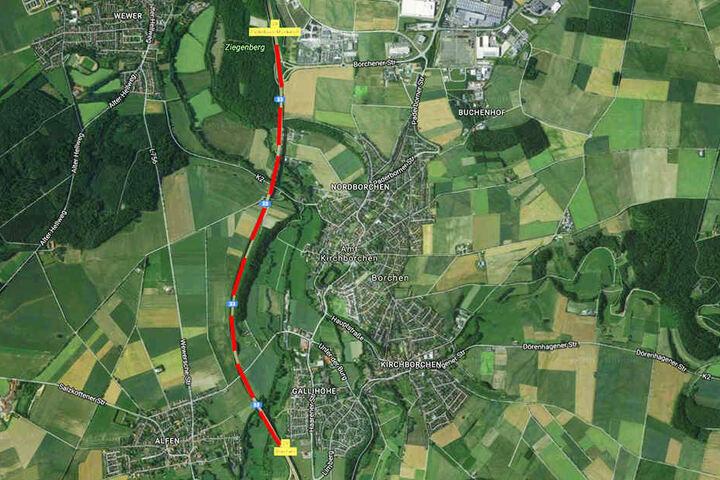 Zwischen der Abfahrt Borchen und Paderborn-Mönkeloh in Richtung Osnabrück kam es in der Nacht zu einem schweren Autounfall.