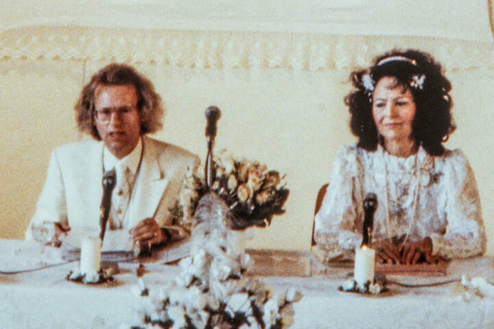 """April 1992: """"Uriella"""" mit ihrem Ehemann Eberhard Bertschinger Eicke."""