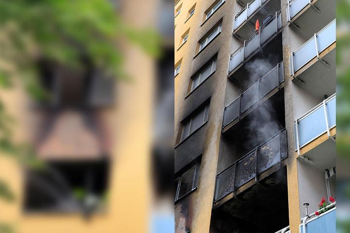 Das Feuer war in einem Neungeschosser in Helbersdorf ausgebrochen.
