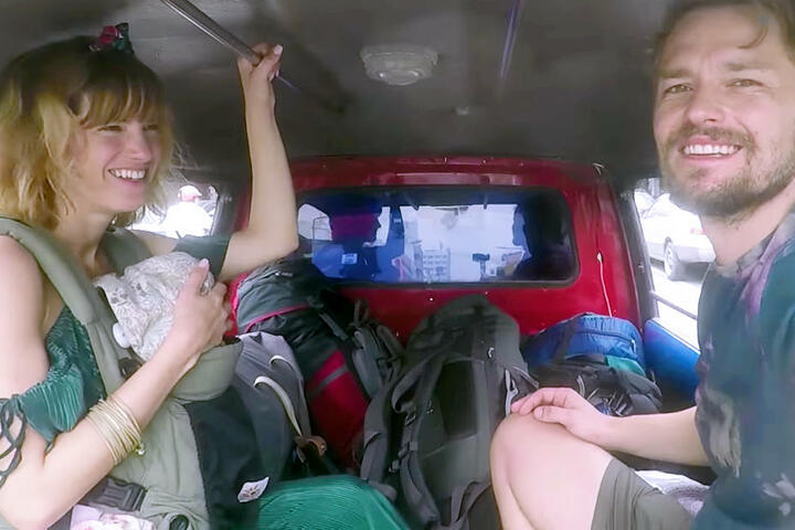 Mit Freund Jens und Baby Ella reiste Isabell fünf Wochen durch Thailand.