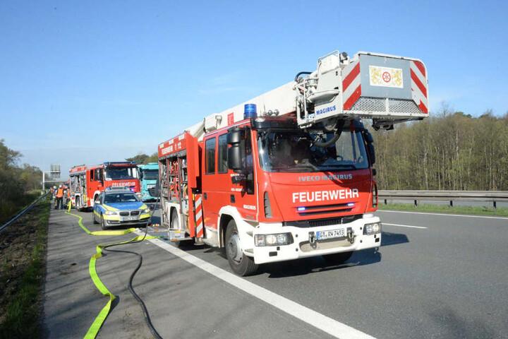 Schwerer Unfall auf der A2 bei Oberhausen