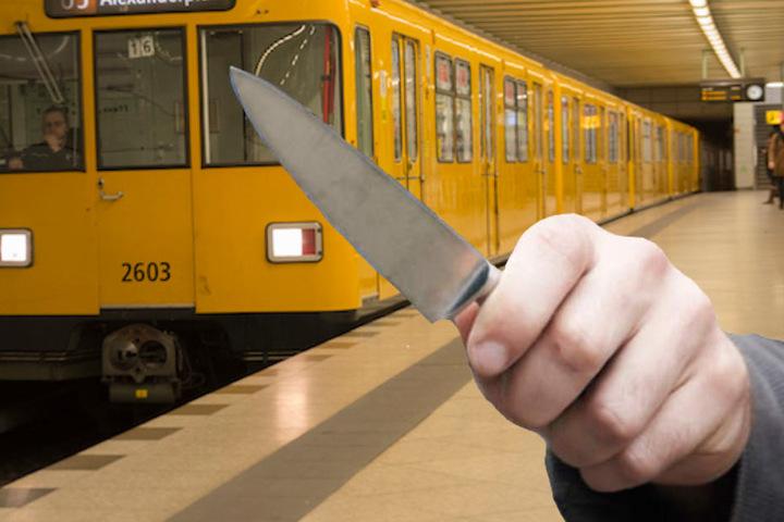Der 24-Jährige bedrohte andere Fahrgäste auf dem Bahnsteig mit dem Messer. (Symbolbild)