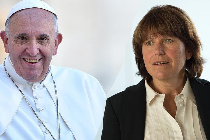 Zwickaus Oberbürgermeisterin Pia Findeiß wird am Sonnabend den Papst treffen.