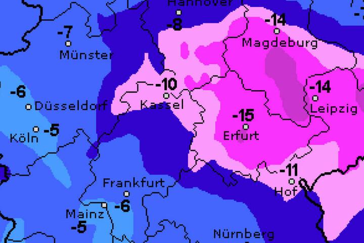 Vorher bleibt es allerdings eisig kalt - besonders in der Nacht.