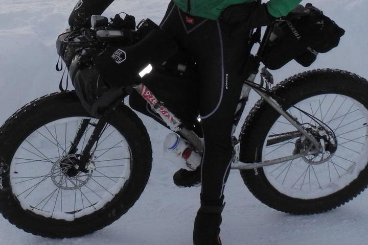 Auch mit Fatbikes wird man in diesem Winter auf dem Rennsteig unterwegs sein können.