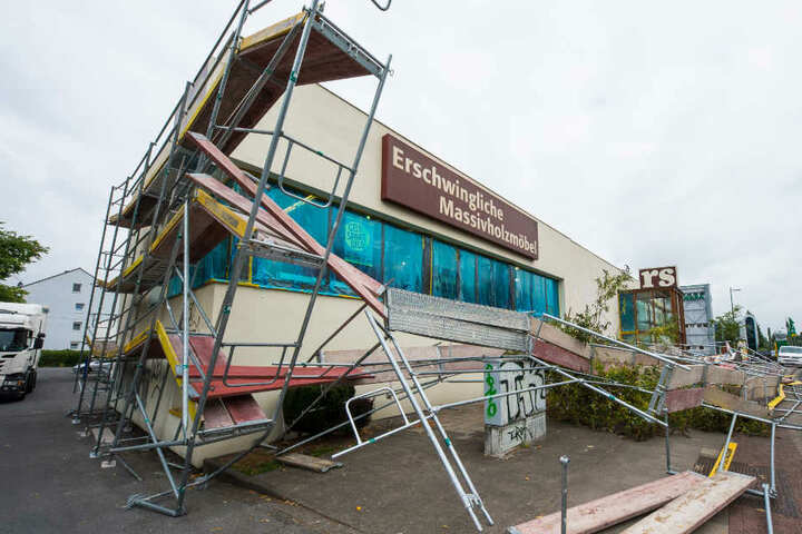 Etwa 5000 Euro Schaden entstanden an dem Gerüst.