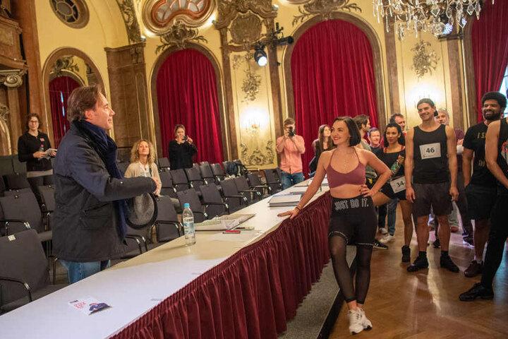 Michael Bully Herbig (l), Schauspieler und Regisseur, beim Casting zum Musical in München.