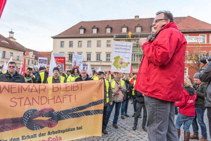 Auf dem Goetheplatz sammelten sich die Demonstranten.