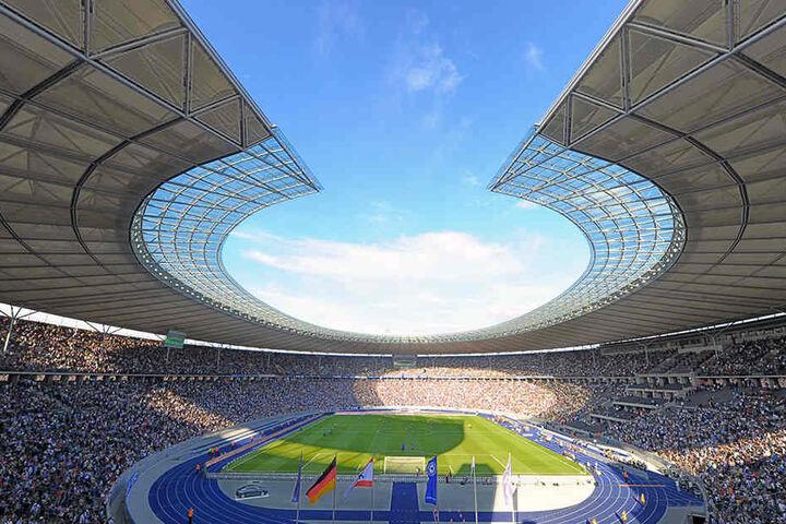 Ein ausverkauftes Olympiastadion: Am Samstag um 18:30 werden 60.000 Fans erwartet - darunter 10.000 Leipziger.