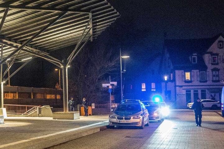 Der Bahnhof von Reichenbach war bis kurz vor Mitternacht abgesperrt.