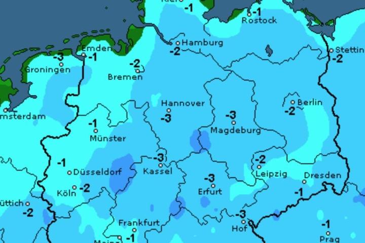 In der Nacht zu Donnerstag wird es frostig in Sachsen.