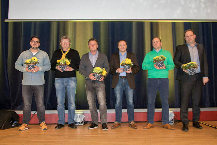 Michael Ziegenbalg, Hans Eggert, Dixie Dörner, Thomas Kunert, André Gasch und  Lars Mai (v.l.) wurden in den Aufsichtsrat gewählt.