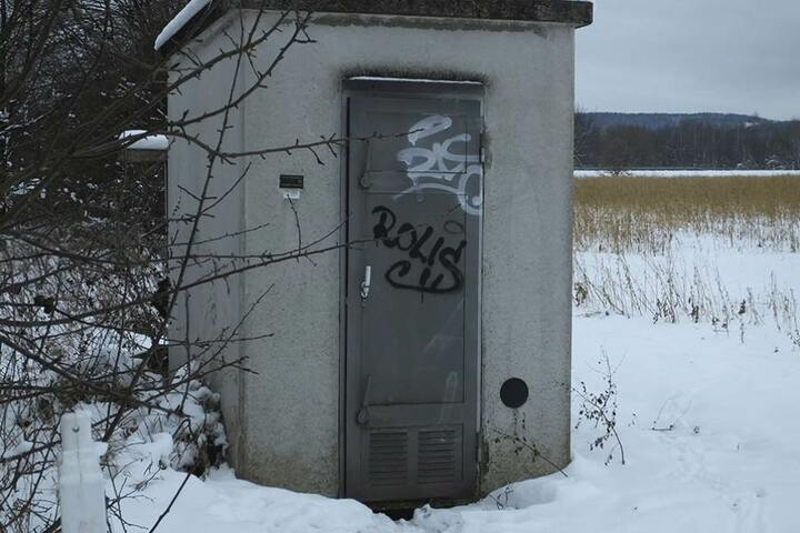 Dieses Häuschen wurde von den Dieben aufgebrochen.