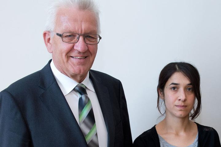 Rückblick: Im September 2016 traf sich Ministerpräsident Winfried Kretschmann mit Nadia Murad.