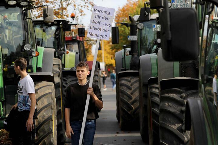 Die Landwirte kamen auch mit ihren Traktoren nach Bonn.