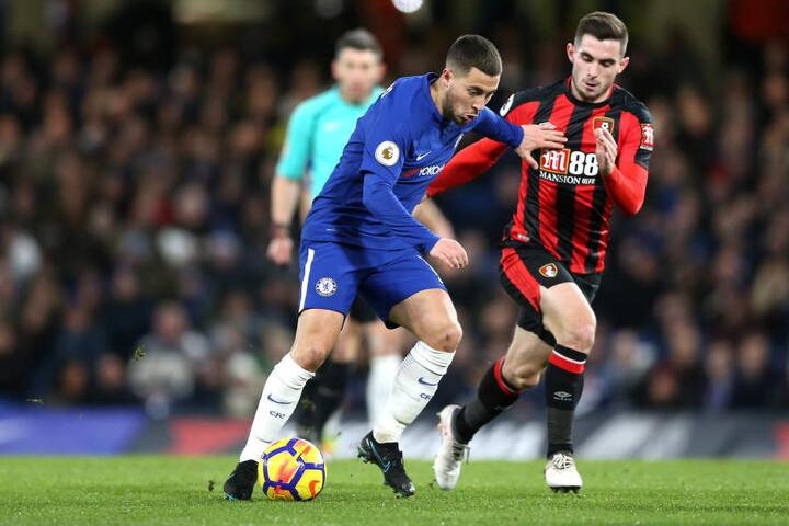 """Laut """"Sport Bild"""" heißer Kandidat am Cottaweg: Lewis Cook (21, r., neben Chelseas Eden Hazard) vom Premier-League-Klub AFC Bournemouth."""