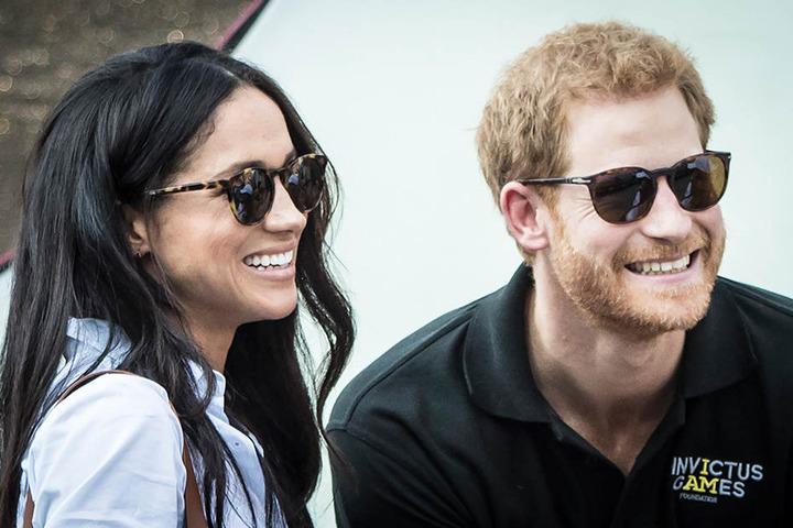 Prinz Harry und seine Verlobte Meghan Markle.
