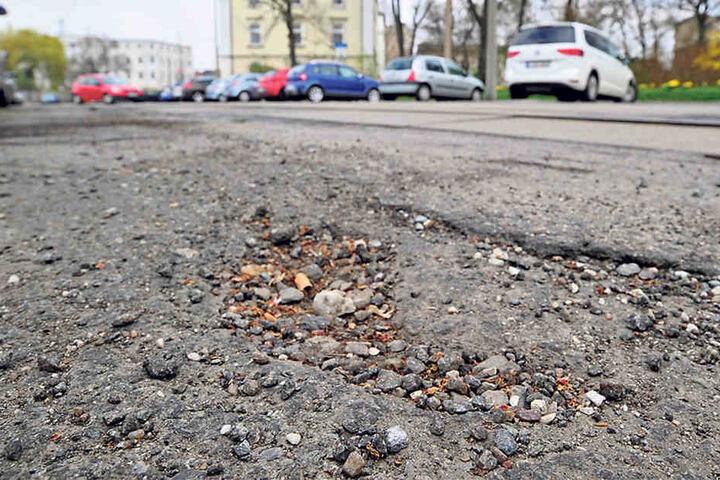 Die Straßen der Schumannstadt sind kaputter als befürchtet.
