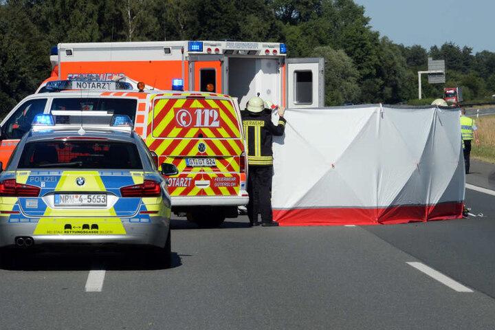 Mit lebensgefährlichen Verletzungen blieb der 57-Jährige liegen.