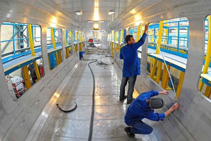 Trotz Pleite wird die Produktion in Niesky fortgesetzt.