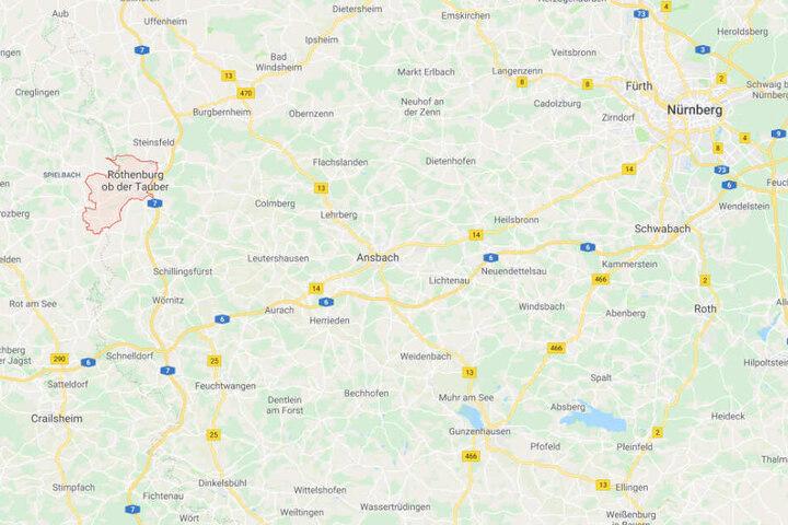 Auf einem Friedhof in Rothenburg ob der Tauber hat sich der Zwischenfall ereignet.