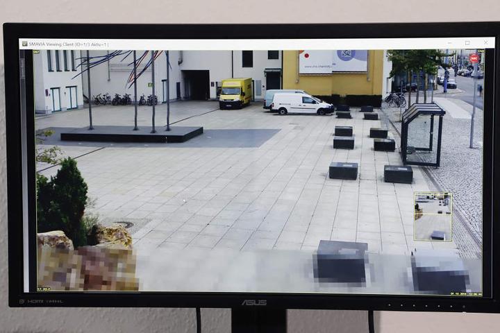 Videobeispiel- Originalbild, Entfernung 85 Meter, Objekt kann auf 85 Meter herangezoomt werden.